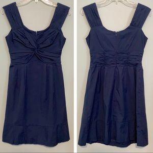 Nanette Lepore Navy Blue Twist-Front Dress 2